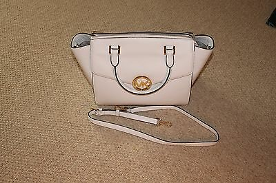 MICHAEL KORS LG SATCHEL VANILLA LEATHER HANDBAG NWOT EUR