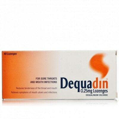 2 x Dequadin 20 Lozenges - Mouth Ulcers + Infections, Sore Throat Relief