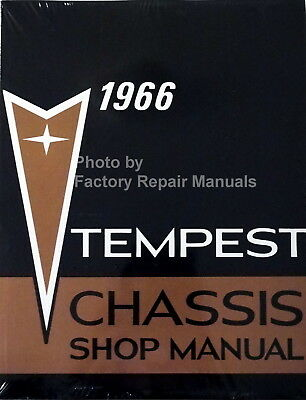 1966 Pontiac Tempest GTO LeMans Factory Service Manual Reprint Shop Repair Book