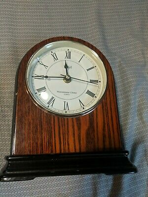 Stiffel Westminster Chime Lacquered Wood Mantle Clock With Quartz Movement -Used