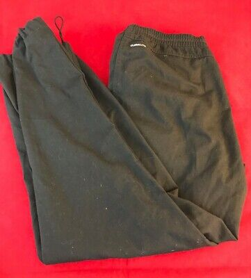 "ADIDAS Boys Black Climalite Elastic Waist TrackSuit Trousers Age14S W30"" x L27"""
