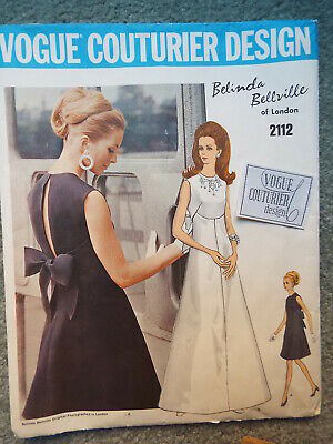 Vintage PATTERN: VOGUE COUTURIER Misses 12  DRESS ** Factory Fold UNCUT w/ LABEL