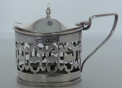 Solid Silver Pierced Mustard Pot no Liner dates Chester 1903