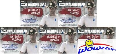 (5)2018 Topps The Walking Dead The Hunters & the Hunted Sealed Blaster Box-5 HIT