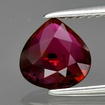 1.20ct Pear Natural Unheated Untreated Red Ruby, Madagascar