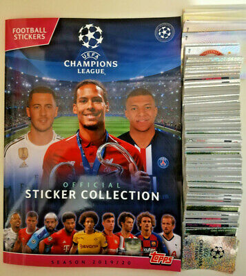 Topps UEFA Champions League 2019/20 Complete Loose Sticker Set +  Empty Album