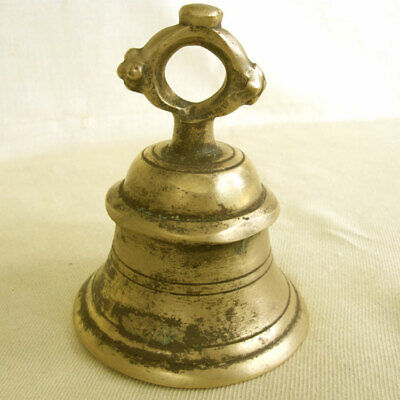 Beautiful Large Antique Brass Temple Bell  Nepal Newar 19Thc Very Smooth