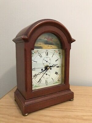 vintage made in england carriage clock-oak wood working nicely- Germany movement