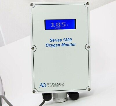 AΩ Alpha Omega Instrument Series 1300 Industrial Grade Oxygen Deficiency Monitor