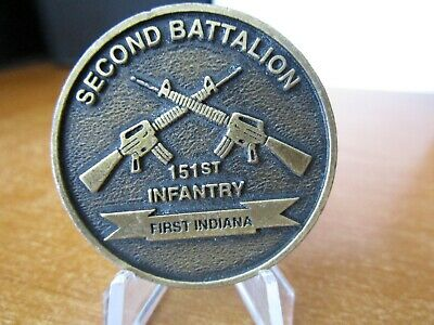 151st Infantry 2nd Battalion Indiana National Guard ANG Army Challenge Coin 568D
