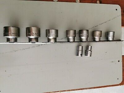 """SIDCHROME SOCKETS LARGE SIZE 1/2"""" DRIVE VARIOUS SIZES 32mm - 12mm Also AF SAE"""