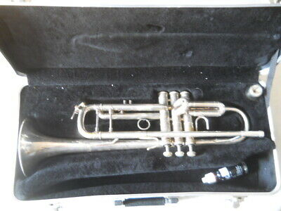 Bach Stradivarius Model 37 Silver Trumpet w/ hard case & mouthpiece