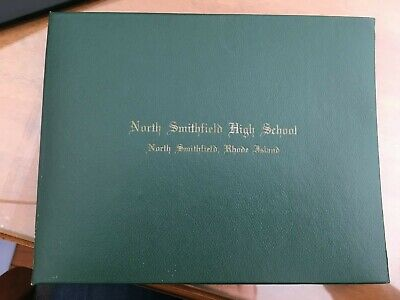 1977 North Smithfield High School Diploma Folder for 6 x 8 diploma