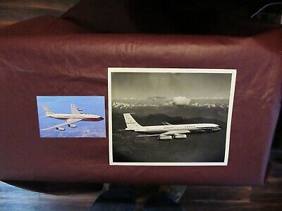 "Braniff International Airways 707 ""El Dorado"" B&W Photograph & Postcard Inflight"