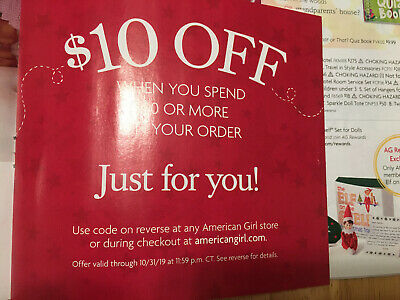 American Girl Store Online Coupon $10 Off $50 Exp 10/31/19 Fast E Delivery