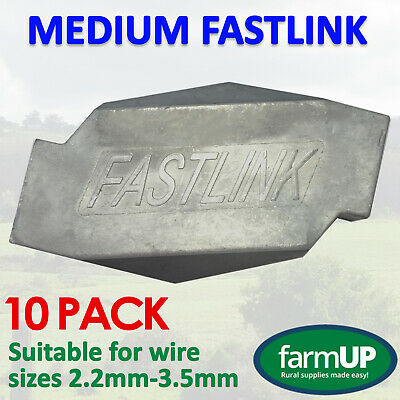10x FASTLINK MEDIUM - Fence Wire Joiner Repair - Works with gripple