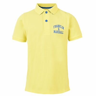 Polo Franklin E Marshal FMS0091 Sunny Yellow Teen Junior Fashion Sportstyle