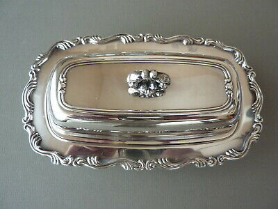 Vintage Silver Footed Butter Dish WM Rogers Mfg. Co. 99 Silverplate