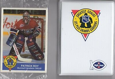 1993-94 High Liner Greatest Goalies Complete Factory Set With Album