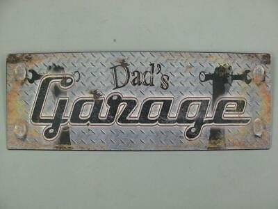 Metal Sign,Advertisement Sign, Dad ´S Garage, Car Wall Sign 5 1/8x14 3/16in