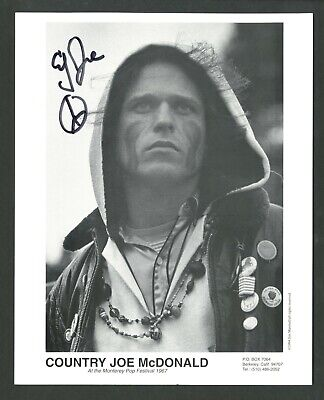 COUNTRY JOE McDONALD Folk Rock Singer WOODSTOCK Signed Autographed 8 x 10 Photo