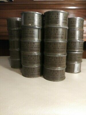 55 WWII US Army Wood Alcohol Heater Ration Heating Cans. Original Fuel Methanol