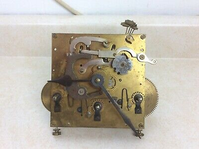 Antique Triple Chime German Wall Clock Movement, Parts Only.