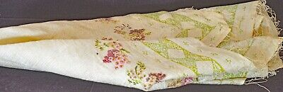 Faded Beauty – Antique SILK Tablecloth Scarf SQUARE UU962