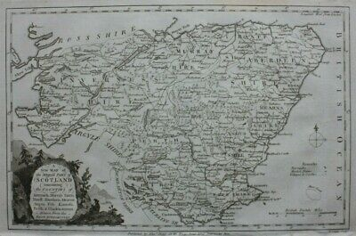 CENTRAL SCOTLAND, PERTH, ABERDEEN original antique map by Thomas Conder, 1786