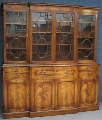 Reprodux Bevan Funnell Mahogany Secretaire Library Bookcase