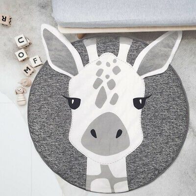 Baby Kids Giraffe Plush Game Play Mat Crawling Soft Blanket Floor Rug Round Pad