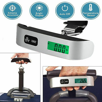 50kg/10g Portable LCD Digital Hanging Luggage Scale Travel Electronic Scale USA