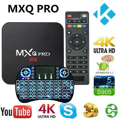MXQ Pro 4K Android 7.1 TV Box S905W Quad Core WiFi HD Media Player HDMI 3D 64Bit