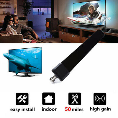 Digital Aerial TV Antenna Stick Ditch Cable HDTV Signal Receiver Booster US