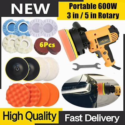 180mm 1200W Car Polisher Buffer Sander Electric Polishing Kit 6 Variable Speed