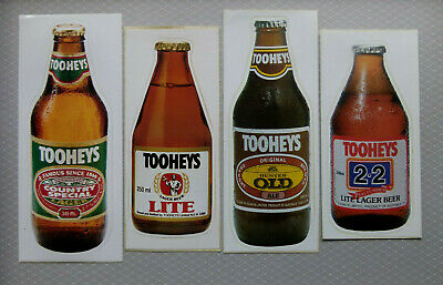 TOOHEYS ..  Original Vintage  1980,s  Pub  Beer Fridge stickers