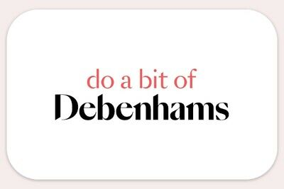 £10 debenhams gift voucher