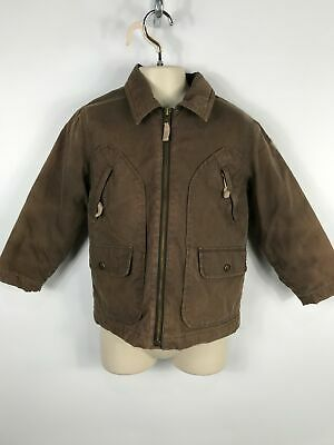 Boys Timberland Brown Light Weight Casual Jacket Lightly Padded Pockets Age 5