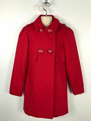 Girls Next Red Soft Feel Double Breasted Long Winter Coat Smart Age 11-12 Years