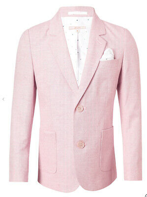 John Lewis & Partners Heirloom Collection Boys Oxford Suit Jacket Pink age 4 & 8