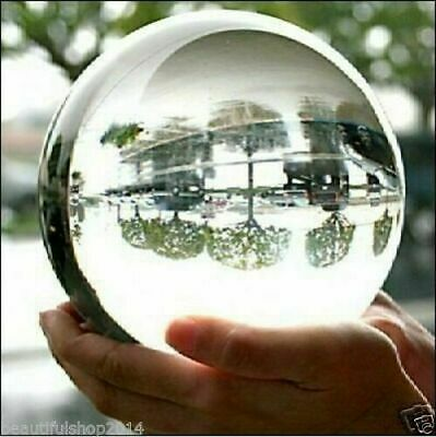 80MM Rare Asian Natural Quartz Clear Magic Crystal Healing Ball Sphere + Stand