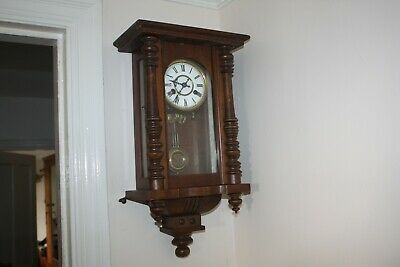D.R.P. german-Wall Clock with Pendulum G.W.O