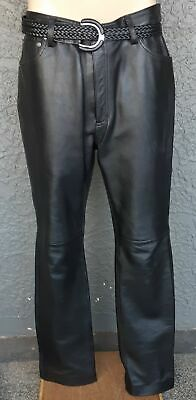 """Leather bike pants by 'Leathercult'  size 34"""""""