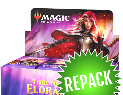 Magic the Gathering MTG THRONE ELDRAINE REPACKED BOOSTER BOX 36 PACKS + 250 CARD