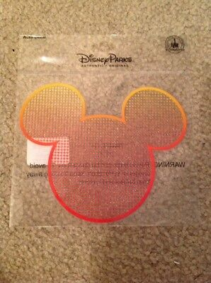 Disney Parks Mickey Mouse Ears Icon Colorful Textured Sticker Decal Auto Car NEW