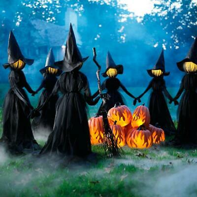 Holding Hands Witches, Set of Three Outdoor/Indoor Halloween Decor (59 x 71)