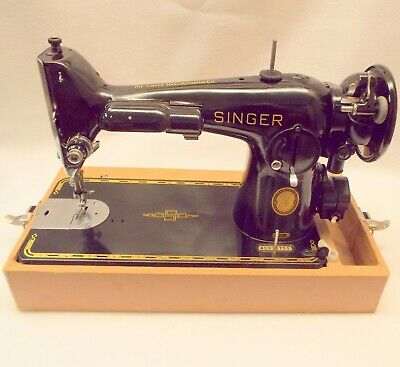 Vintage Singer 201 Sewing Machine Many Extras Professionally Serviced With Case
