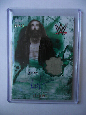 2018 Topps WWE Undisputed - Luke Harper Autograph and Relic Card 21/50