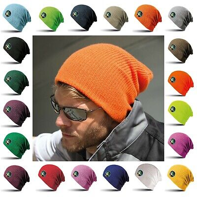 Slouch Beanie Hat Oversized Knitted Winter Warm Mens Womens Woolly Ski Skater