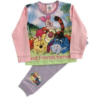 Winnie the Pooh Pyjamas Pajamas Pjs Girls Toddlers 12 months to 4 Years